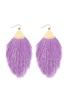 S5-6-3-AHDE2232LV LAVENDER OVERSIZED TASSEL DROP EARRINGS/6PAIRS