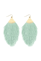 S5-5-2-AHDE2232MN MINT OVERSIZED TASSEL DROP EARRINGS/6PAIRS