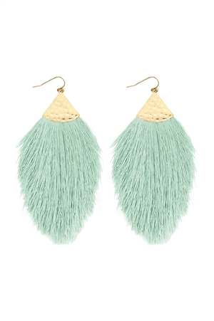 S5-5-2-AHDE2232MN MINT TASSEL DROP EARRINGS/6PAIRS