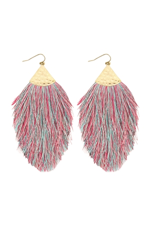 S6-4-3-AHDE2232MT MULTI COLOR TASSEL DROP EARRINGS/6PAIRS