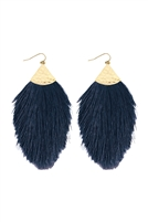 SA3-3-3-AHDE2232NV NAVY TASSEL DROP EARRING/6PAIRS