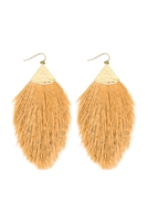 S5-6-3-AHDE2232SAM LIGHT MUSTARD TASSEL DROP EARRINGS/6PAIRS