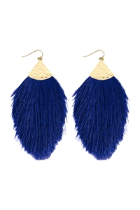 S5-5-2-AHDE2232SB SAPPHIRE BLUE TASSEL DROP EARRINGS/6PAIRS