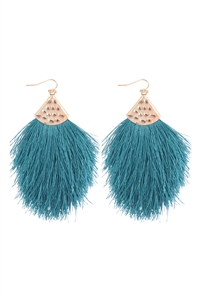 S7-5-2-AHDE2232TL TEAL TASSEL DROP EARRINGS/6PAIRS