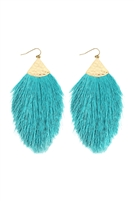 S5-5-3-AHDE2232TQ TURQUOISE TASSEL DROP EARRINGS/6PAIRS