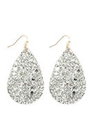 S4-4-4-AHDE2560S SILVER SEQUIN TEARDROP EARRINGS/6PAIRS