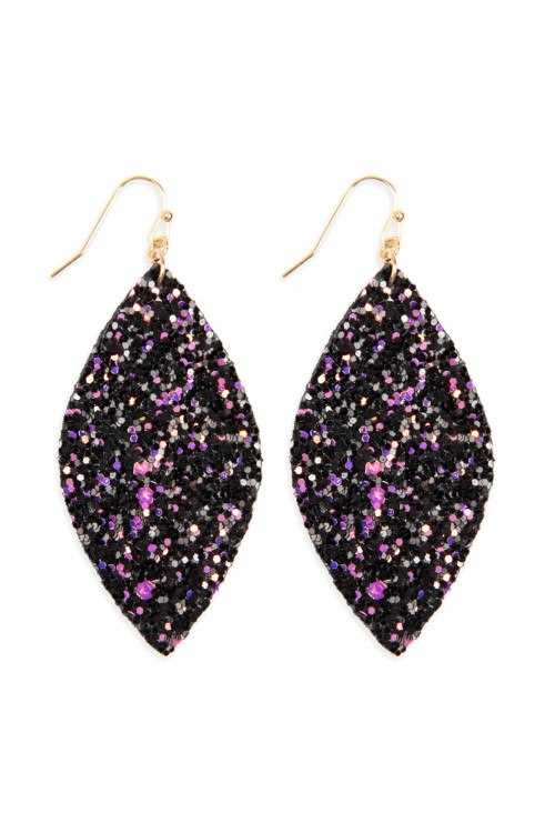 S6-4-1-AHDE2561MT MULTI COLOR SEQUIN MARQUISE DROP EARRINGS/6PAIRS