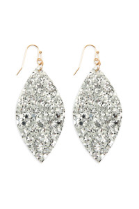 S4-5-3-AHDE2561S SILVER SEQUIN MARQUISE DROP EARRINGS/6PAIRS