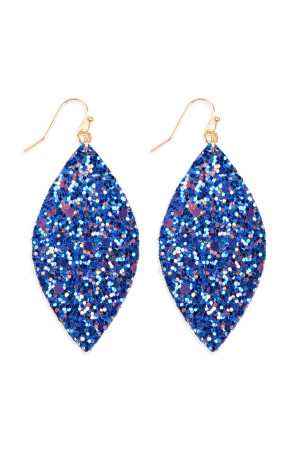 S4-5-3-AHDE2561SP SAPPHIRE SEQUIN MARQUISE DROP EARRINGS/6PAIRS