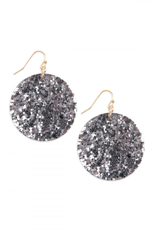 A2-1-4-AHDE2562PTW PEWTER SEQUIN CIRCLE DROP EARRINGS/6PAIRS***WARNING: California Proposition 65***