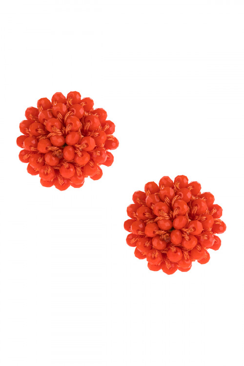 A3-3-4-AHDE2597COR CORAL RONDELLE POST EARRING/6PAIRS