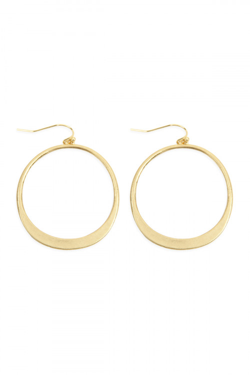 A2-1-2-AHDE2653G GOLD OPEN CIRCLE DROP EARRINGS/6PAIRS