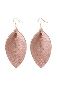 A3-3-4-AHDE2811PK PINK PINCHED TEARDROP HOOK DROP EARRING/6PAIRS