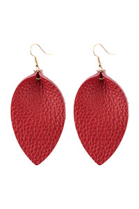 A3-3-3-AHDE2811RD RED PINCHED TEARDROP HOOK DROP EARRING/6PAIRS