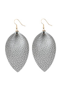 A3-3-3-AHDE2811S SILVER PINCHED TEARDROP HOOK DROP EARRING/6PAIRS
