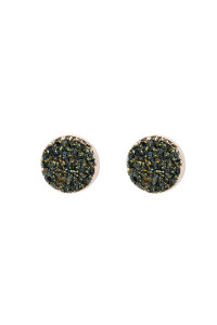 A2-2-5-AHDE2937H HEMATITE ROUND DRUZY STUD EARRINGS/6PAIRS