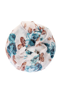S7-4-1-AHDF1996BL BLUE FLORAL INFINITY SCARF/6PCS