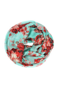 S5-6-1-AHDF1996MN MINT FLORAL INFINITY SCARF/6PCS