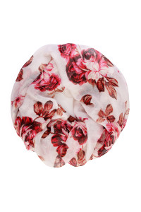 S6-6-1-AHDF1996PK PINK FLORAL INFINITY SCARF/6PCS