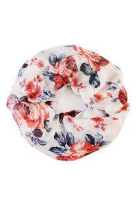 S7-6-1-AHDF1996WT WHITE FLORAL INFINITY SCARF/6PCS