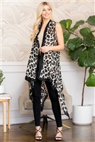 S3-6-3-AHDF2654WT WHITE LEOPARD SKIN PRINTED OPEN FRONT CARDIGANS/6PCS