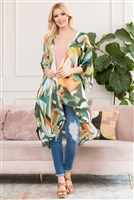 S3-6-3-AHDF2661GR GREEN ABSTRACT PRINT KIMONO/6PCS