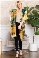 S3-6-2-AHDF2668TQ TURQUOISE DISTRESSED PAINT STYLE OPEN FRONT KIMONO/6PCS