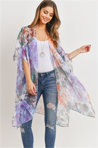 S17-5-1-HDF3175-ABSTRACT PRINT OPEN FRONT KIMONO/6PCS