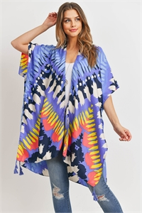 S17-4-1-HDF3182-ABSTRACT PRINT OPEN FRONT KIMONO/6PCS