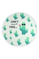 S27-8-4-HDF3197-CACTUS PATTERN ROUND TOWEL/1PC