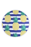 S27-9-5-HDF3198-PINEAPPLE PATTERN ROUND TOWEL/1PC