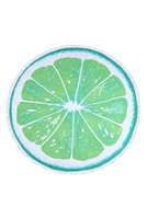 S27-9-5-HDF3200GR-CITRUS ROUND TOWEL-GREEN/1PC