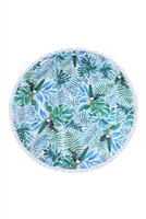 S26-8-3-HDF3202-MAUI AND SONS TROPICAL PATTERN ROUND TOWEL/1PC