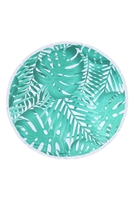S27-7-3-HDF3203-TROPICAL PRINT ROUND TOWEL/1PC