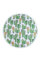 S26-9-2-HDF3204-CACTUS PATTERN ROUND TOWEL/1PC