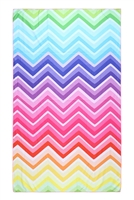 S27-8-4-HDF3213-RAINBOW CHEVRON PATTERN TOWEL/1PC