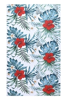 S27-9-4-HDF3214-TROPICAL FLOWER PRINT TOWEL/1PC