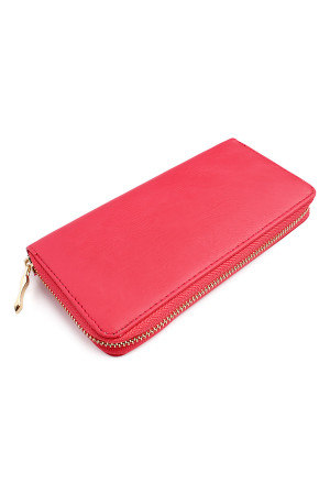 SA4-3-1-AHDG1460FU FUCHSIA CLASSIC SINGLE ZIPPER WALLET/6PCS
