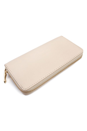 S6-6-1-AHDG1460NA NATURAL CLASSIC SINGLE ZIPPER WALLET/6PCS