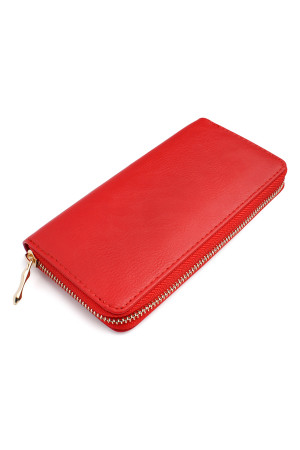 S7-5-1-AHDG1460RD RED CLASSIC SINGLE ZIPPER WALLET/6PCS