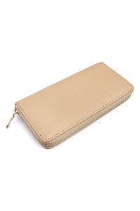 SA4-3-1-AHDG1460SD SAND CLASSIC SINGLE ZIPPER WALLET/6PCS