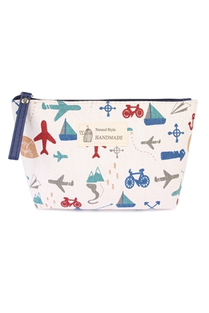 S24-6-4-HDG1586-3 TRAVELING PRINT COSMETIC BAG/6PCS