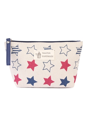 S24-6-4-HDG1586-4 STARS PRINTED COSMETIC BAG/6PCS