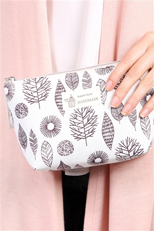 S7-4-1-AHDG1586-7 AZTEC LEAF PRINT COSMETIC BAG/6PCS