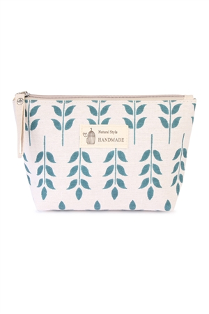 S24-6-3-HDG1586-8 LEAF PRINTED COSMETIC BAG/6PCS