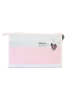 S28-7-2-HDG1835-7 - MINT PINK DOT LARGE COSMETIC BAG /6PCS