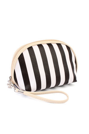 S5-5-1-AHDG1857-1BK STRIPED COSMETIC BAG/6PCS