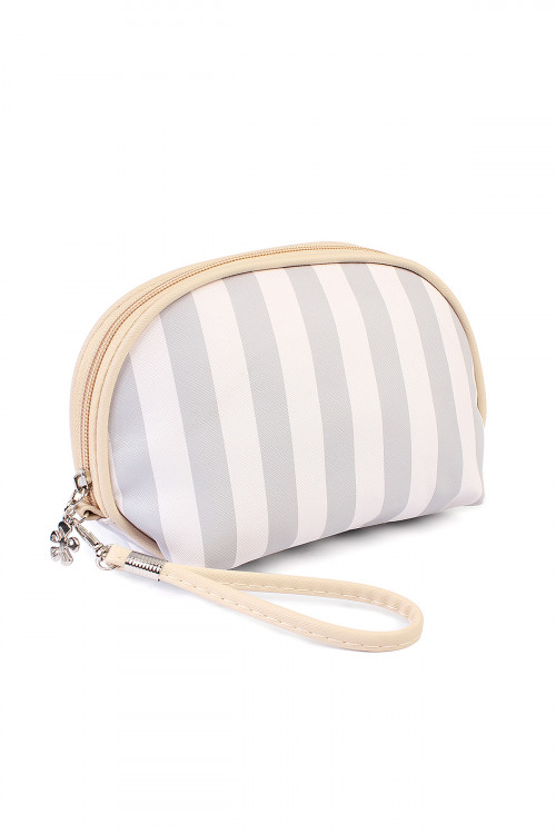211-2-5-AHDG1857-1GY STRIPED COSMETIC BAG/6PCS