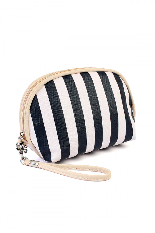 211-2-5-AHDG1857-1NV STRIPED COSMETIC BAG/6PCS
