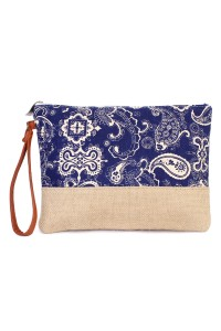 S6-5-2-AHDG1895NV NAVYPAISLEY COSMETIC BAG/6PCS